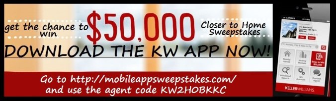 Download my KW Mobile App now and get the chance to win $50,000